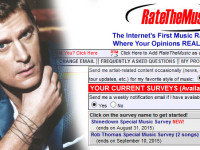 Rob Thomas RATE THE MUSIC SURVEY